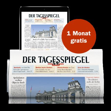 2 Monate den Tagesspiegel lesen