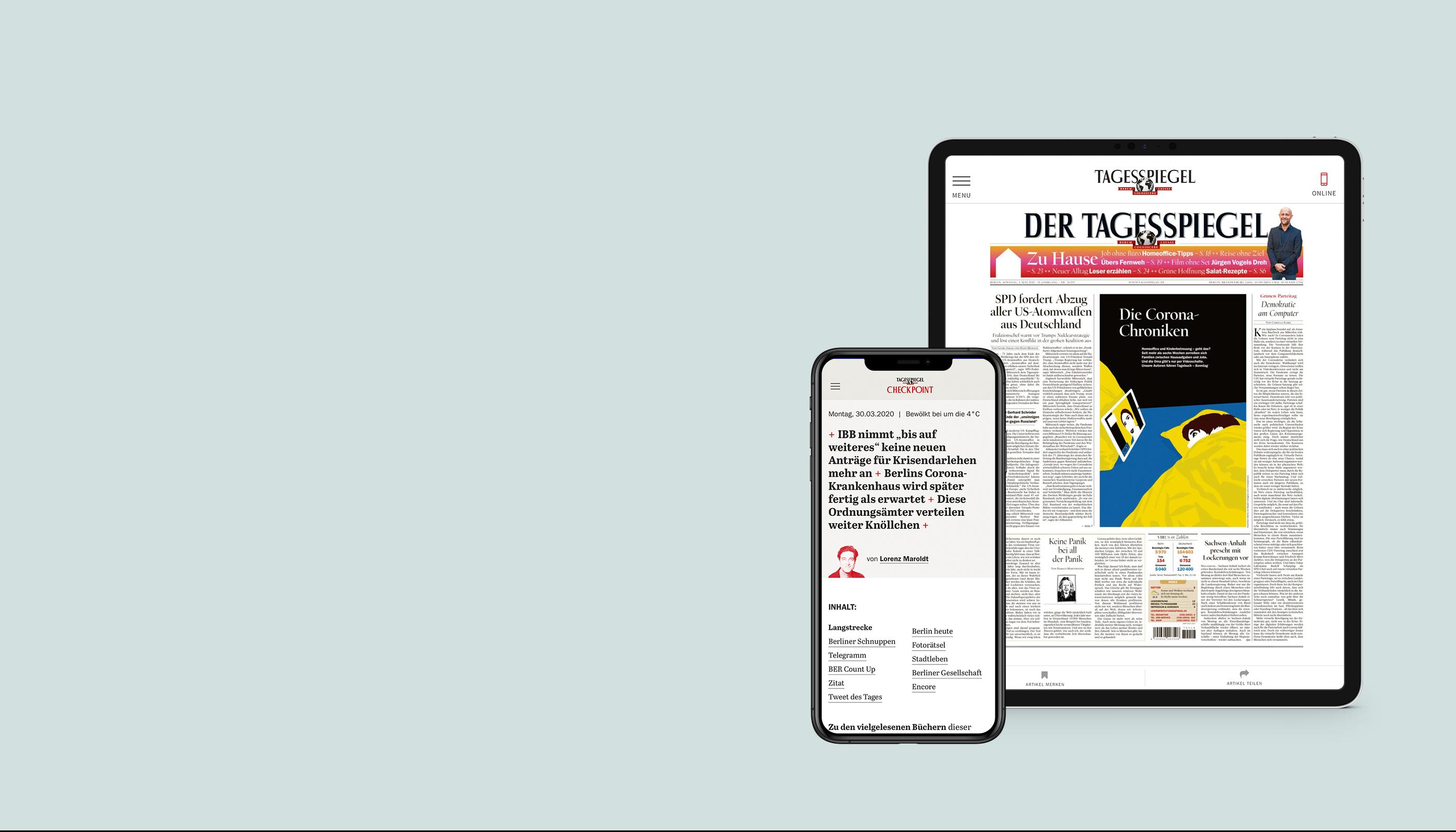 Der Tagesspiegel als digitale Zeitung für Studierende