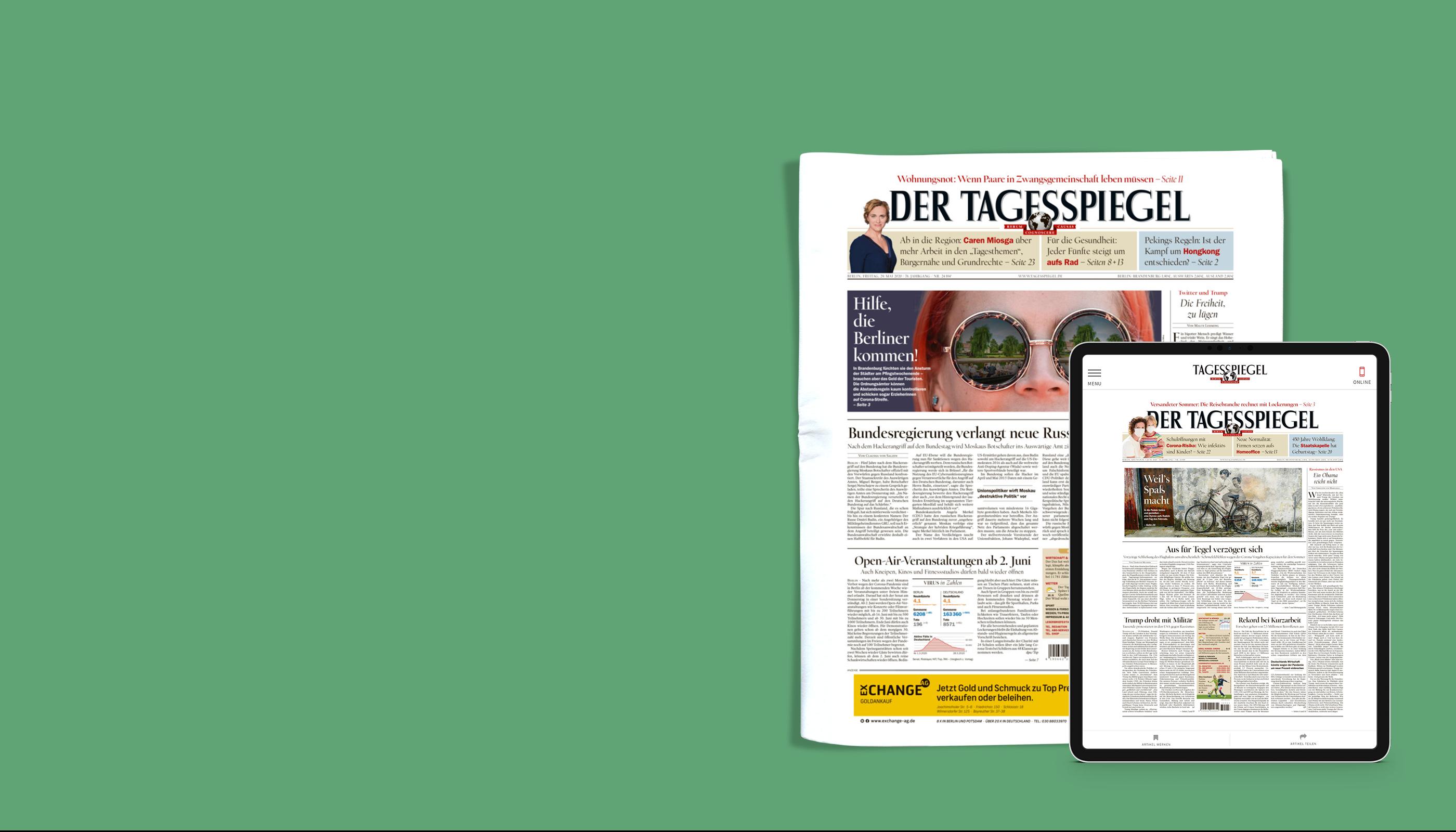Täglich digital und die Zeitung am Wochenende