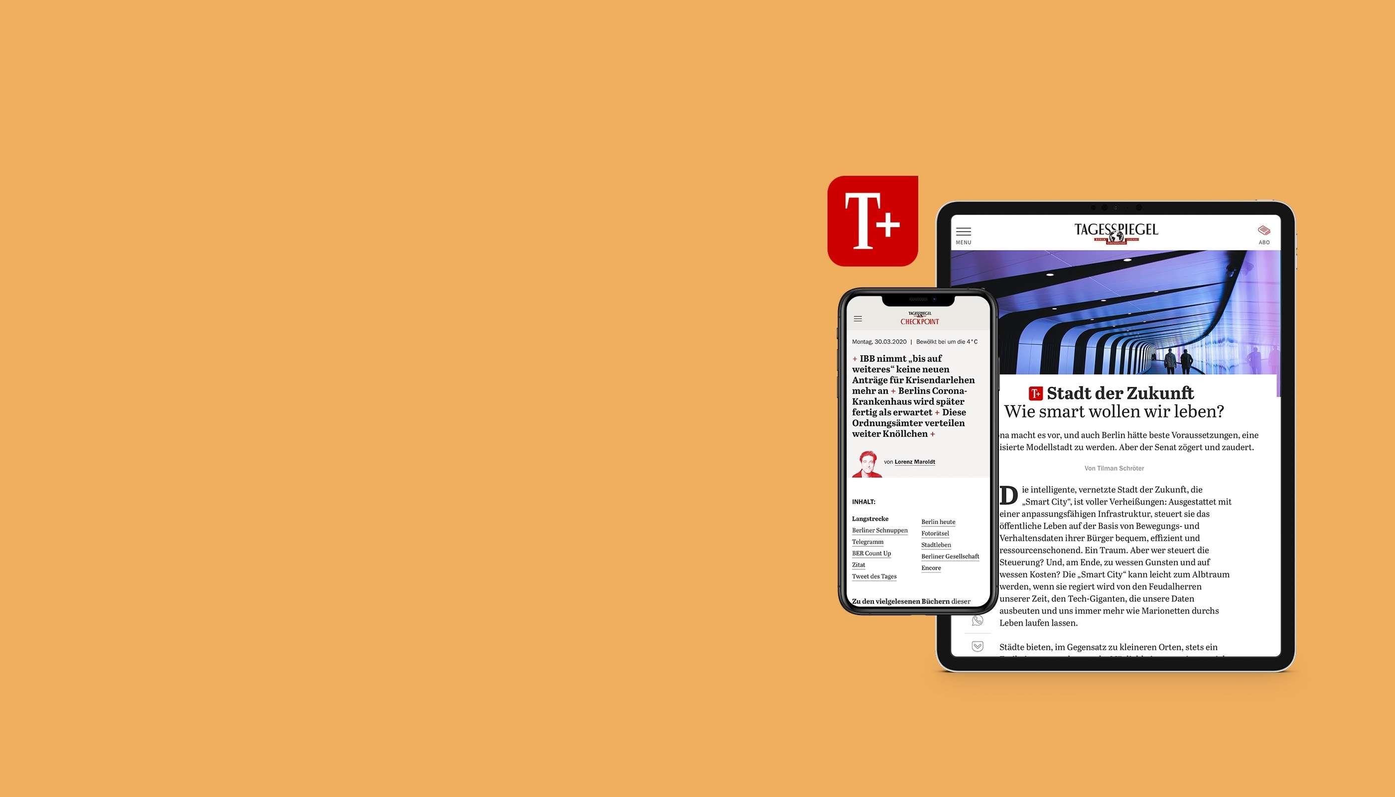 Testen Sie Tagesspiegel Plus 30 Tage gratis