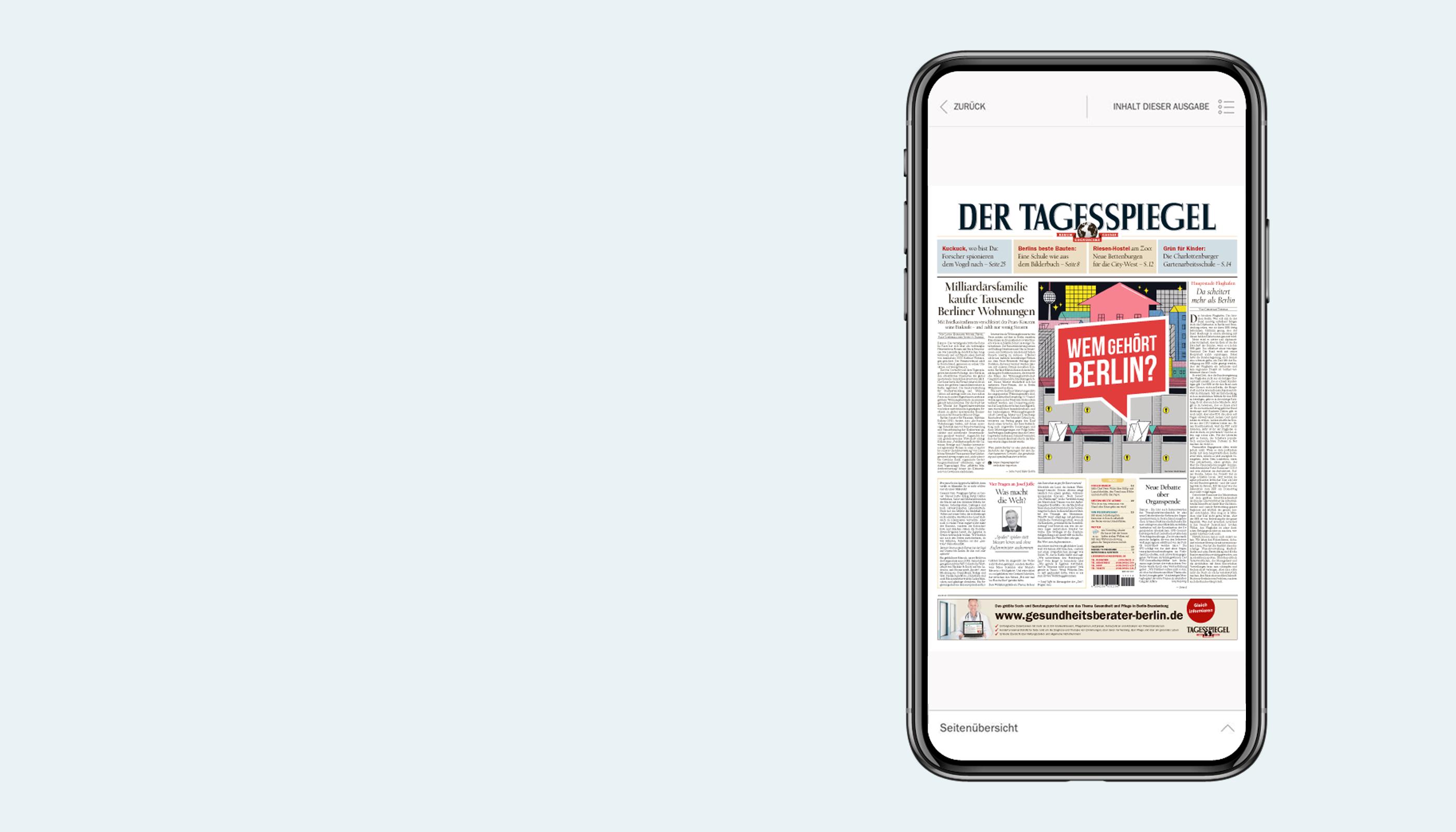 Der Tagesspiegel als digitale Zeitung
