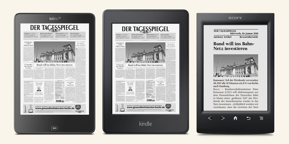 Tagesspiegel für E-Reader